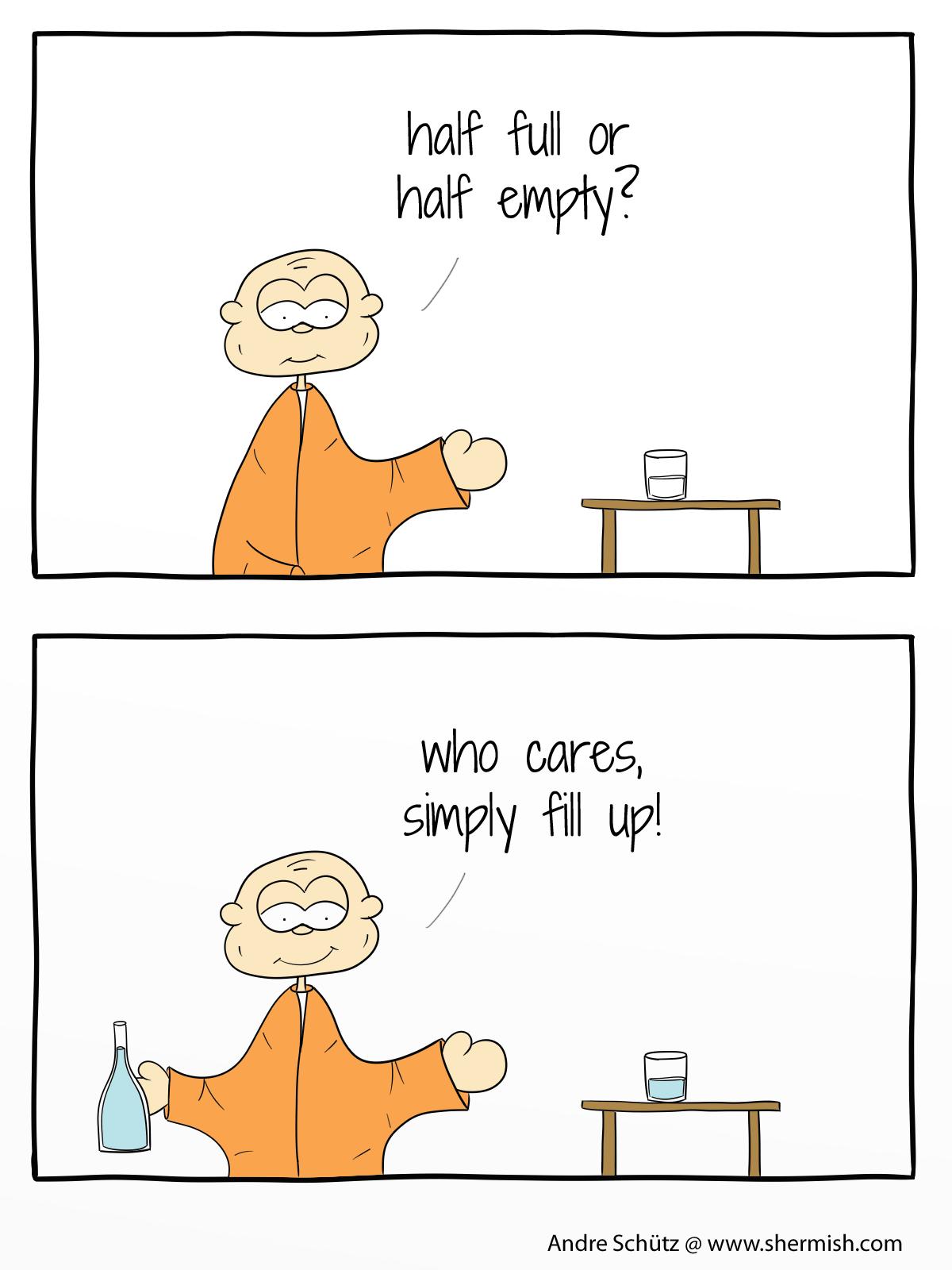 Monktales: Half full or half empty - who cares