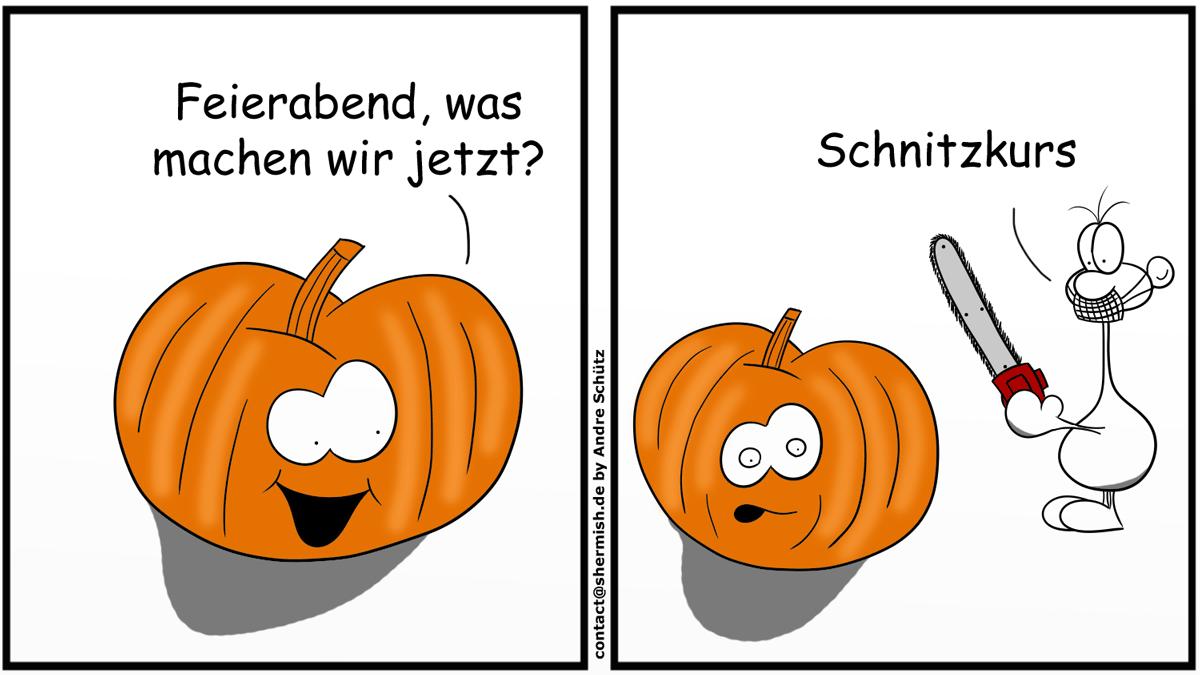 Schnitzkurs an Halloween